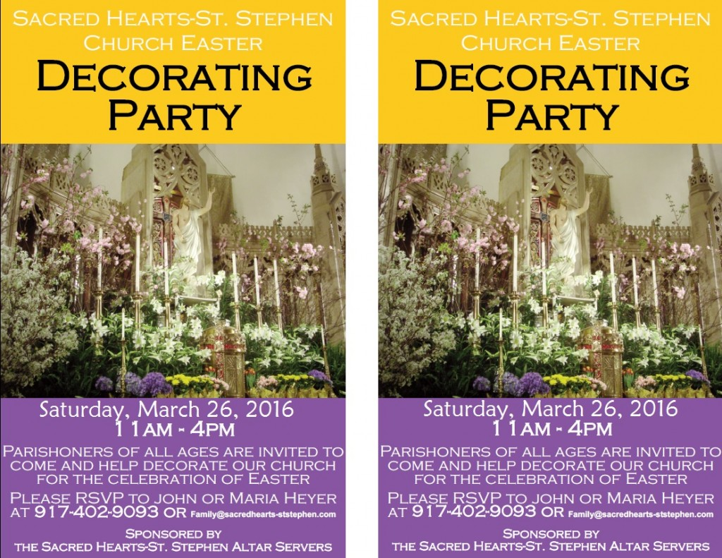 Easter Decorating flyer 2016